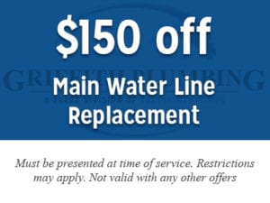 $150 off main water line replacement